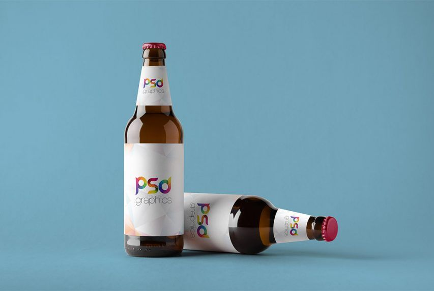 Free Beer Bottle Mockup Psd Psd Graphics Free Photoshop Mockup Psd Beer Bottle Bottle Mockup Beer Bottle Labels Design Free Mockup