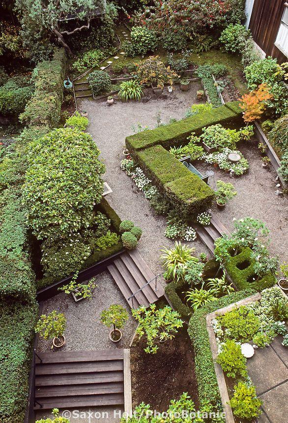 Jeanne Wolff Backyard San Francisco Garden; Garden Rooms Defined By Hedges.
