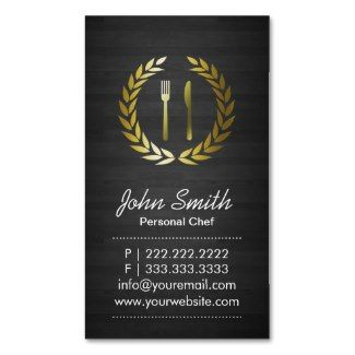 personal chef business cards