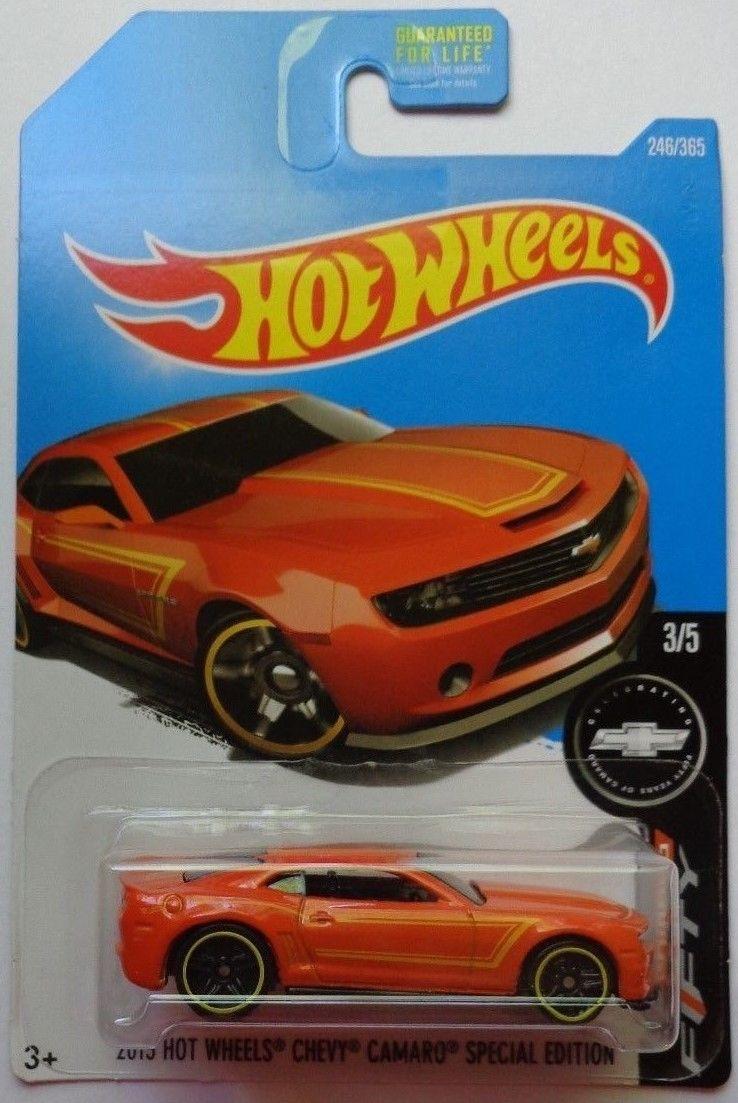 2 2017 Hot Wheels Camaro Fifty 3 5 Chevy 246 365 Orange Version Ebay Collectibles