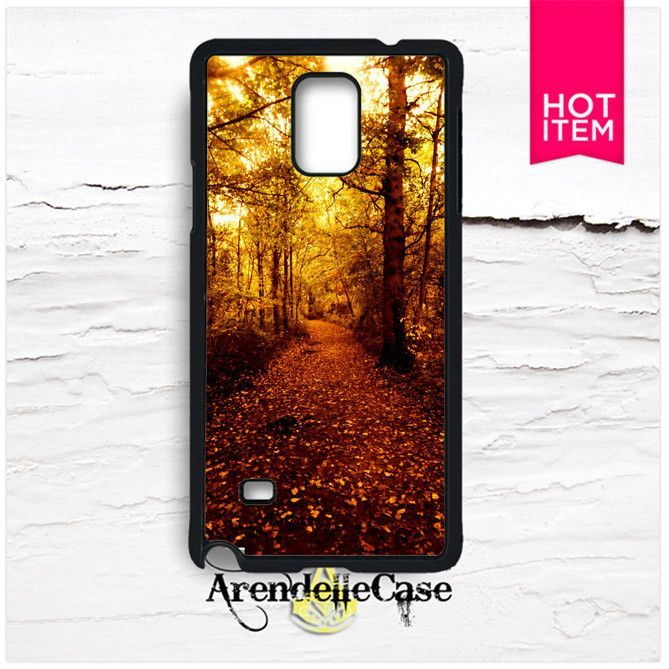 Gold Autumn Fall Samsung Galaxy Note 4 Case