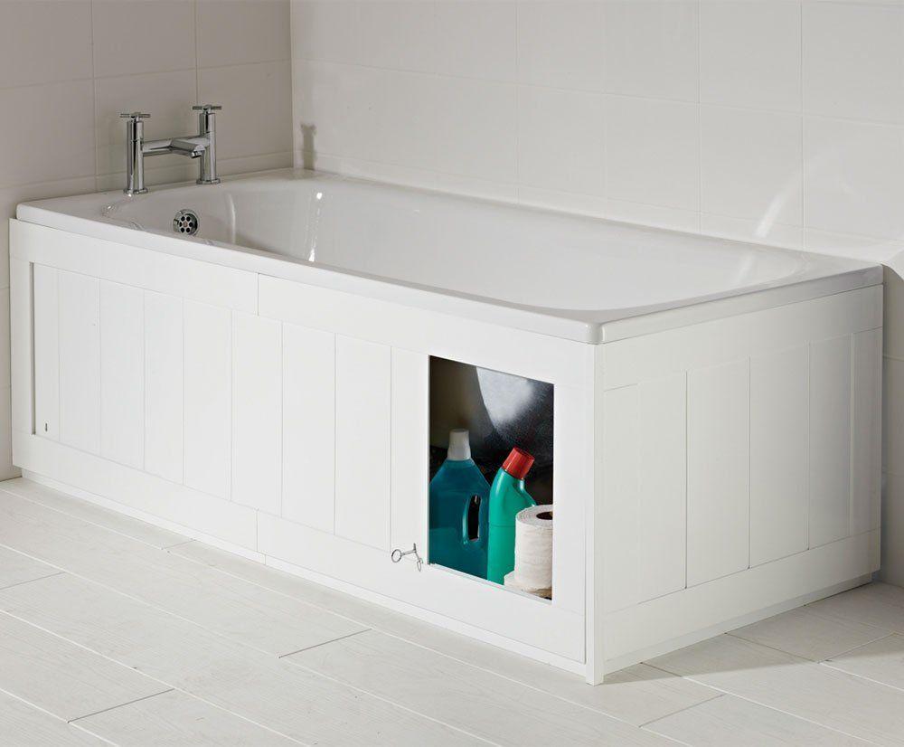 Croydex Unfold-n-Fit Height Adjustable 50-53 cm Bath Panel, 168 cm ...