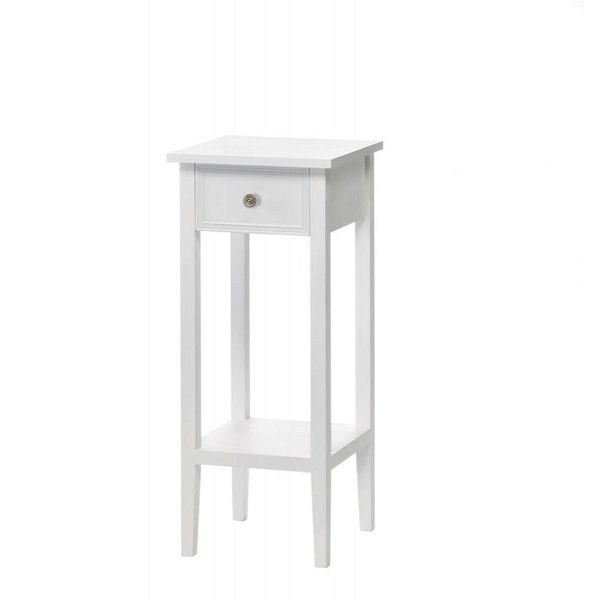 Model Of Classic White Side Table With Drawer 4 575 DOP ❤ liked on Polyvore featuring home Minimalist - Beautiful side table with drawer Modern