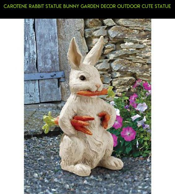 Carotene Rabbit Statue Bunny Garden Decor Outdoor Cute Statue #drone ...
