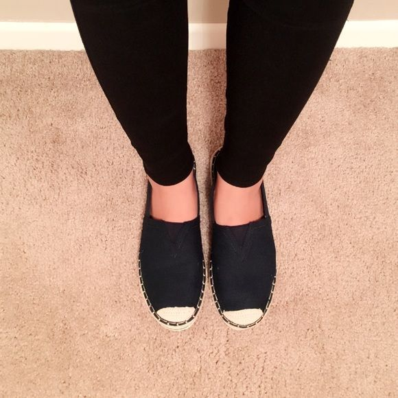 Brand New Madden Girl navy canvas wedge flat shoes In size 8, brand new without box Madden Girl Shoes Flats & Loafers