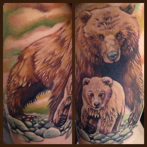 Stunning Grizzly Bear Tattoo Ideas - The Wild Tattoo (2019 ...