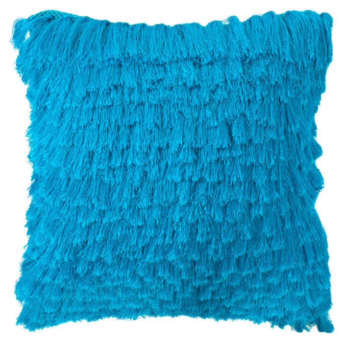 Electric Blue tassel pillows