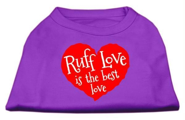 Ruff Love Screen Print Shirt Purple XXXL (20)