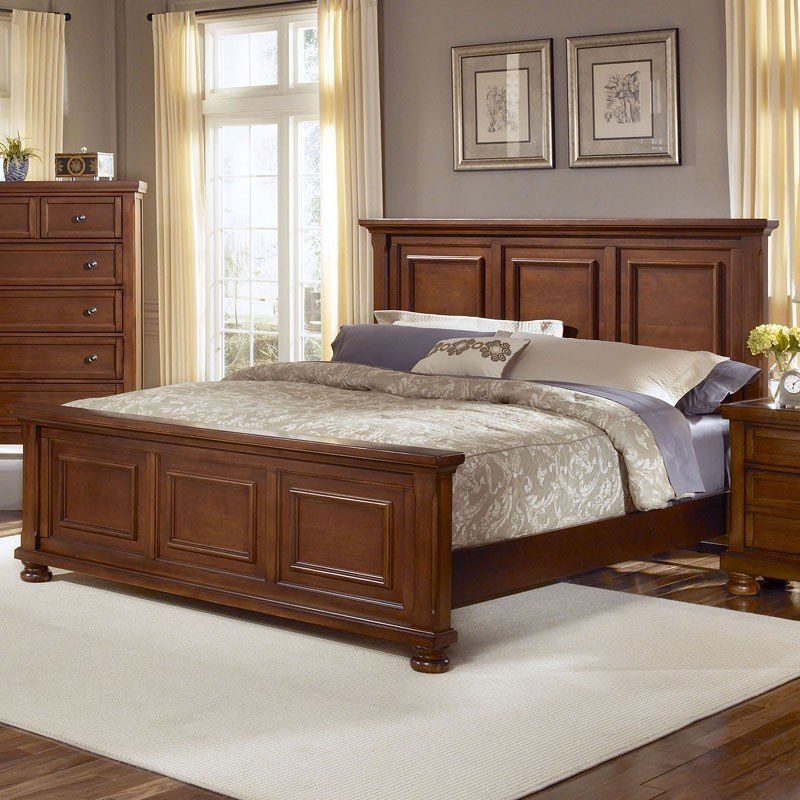 Best Reflections Mansion Bed Medium Cherry Bed Furniture 640 x 480