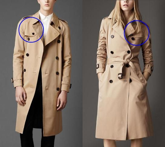 2d2fab145de Difference between men's and women's trench coats - the storm patch ...