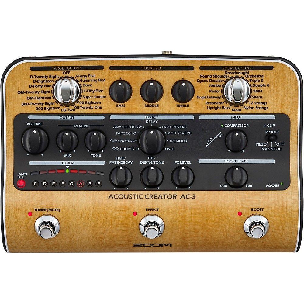 Zoom Ac 3 Acoustic Creator Acoustic Multi Effects Pedal Acoustic Acoustic Guitar Guitar Effects