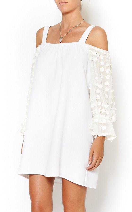 7b77258d41 Voom by Joy Hahn Summer White Flower Dress on shopstyle.com ...