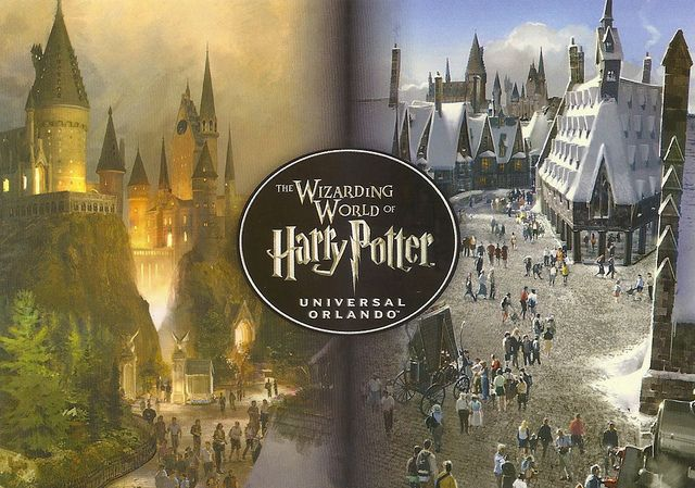 Florida Universal Studios Harry Potter Split View Harry Potter Universal Studios Universal Studios Wizarding World Of Harry Potter