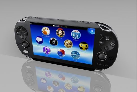 3D handheld video game console model in FBX 3D model format that works with most 3D modeling software.