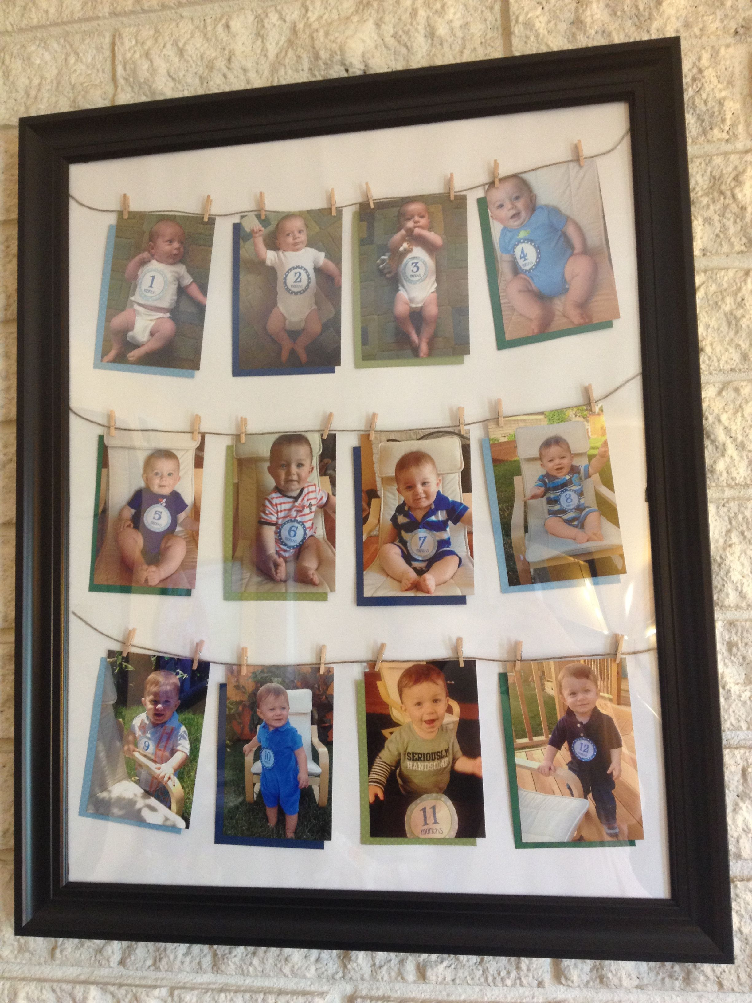 Month By Month Baby Picture Frame : month, picture, frame, Month, Photo, Display, Monthly, Photos, Display,, Birthday, Picture, Displays,, Displays