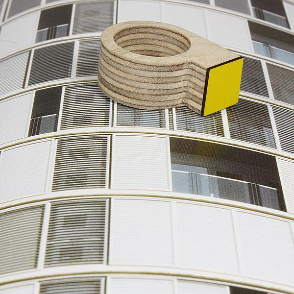 """Plywood """"mirador"""" ring von Bandada auf DaWanda.com"""
