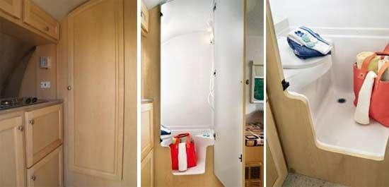 T@DA (TADA) Small Travel Trailer Interior   Bathroom Arrangements
