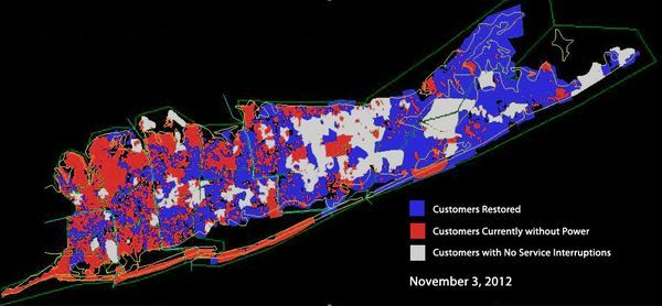 Long Island Power Authority Outage Map After Sandy Maps