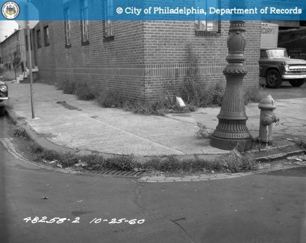 PhillyHistory.org - Weeds Growing By Culverts and Curbs