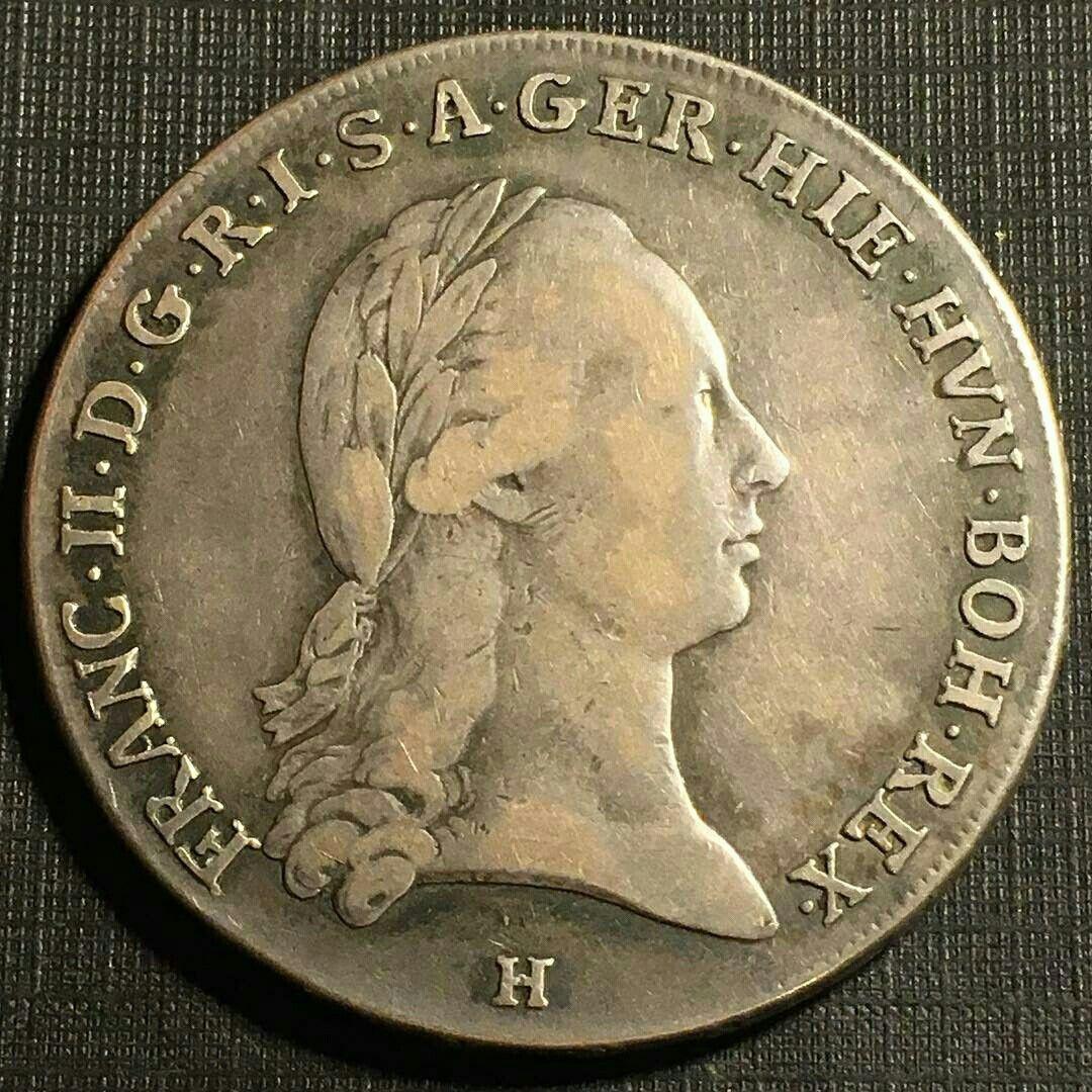 Silver Kronenthaler from Austro-Hungarian Netherlands 1796