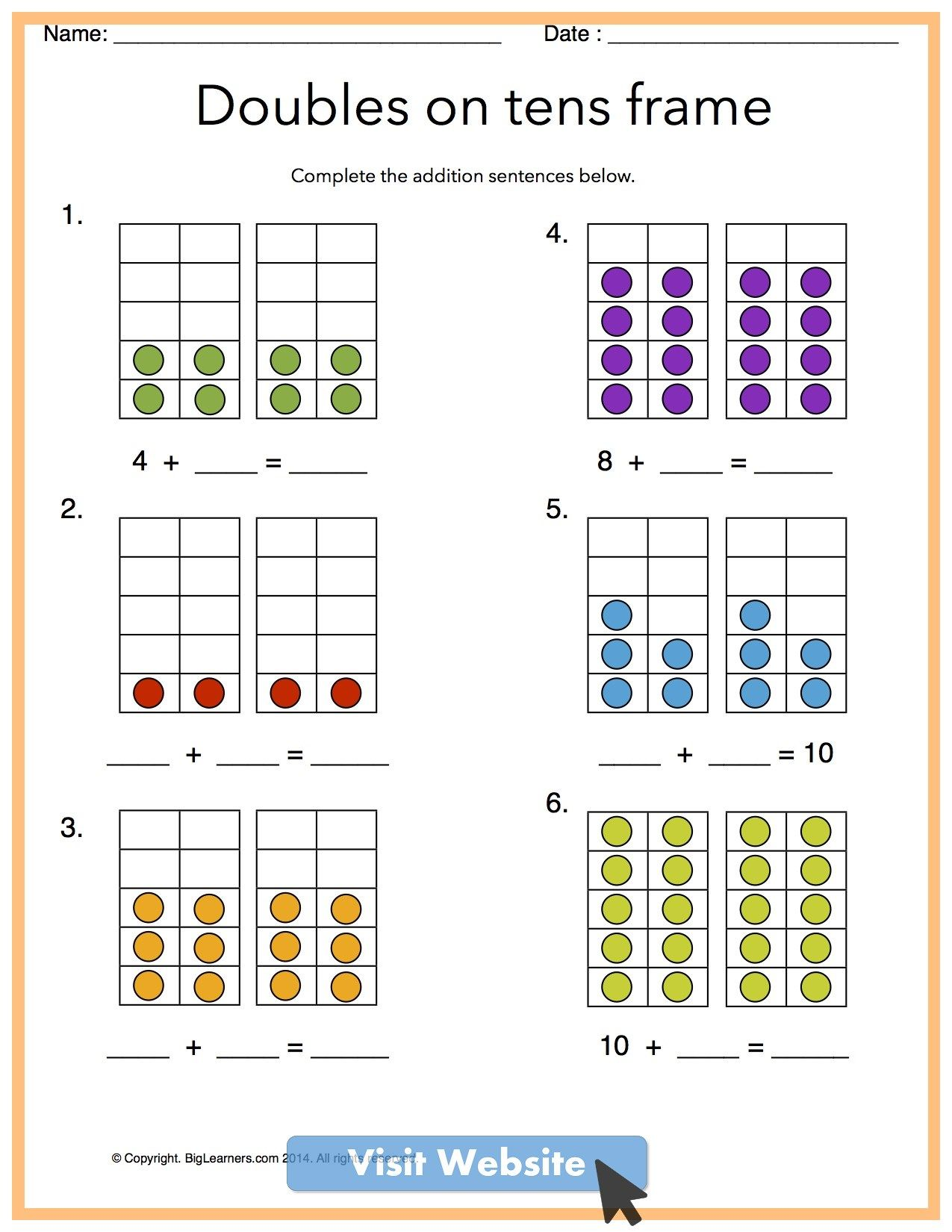 Math Worksheets First Grade Subtraction Free Math Worksheets Kindergarten Math Worksheets Common Core Math Kindergarten