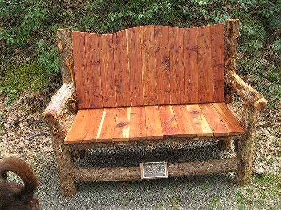 Brilliant Wooden Memorial Bench Along The Mohonk Preserve New Paltz Machost Co Dining Chair Design Ideas Machostcouk