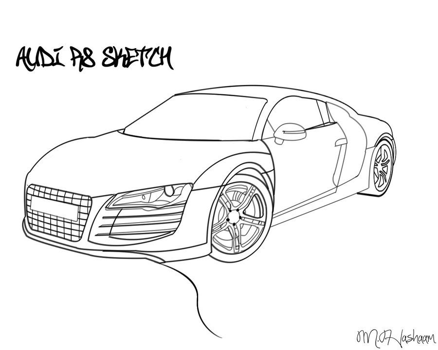Audi R Drawing By TecArtist On DeviantART Gifts Given - Audi car drawing