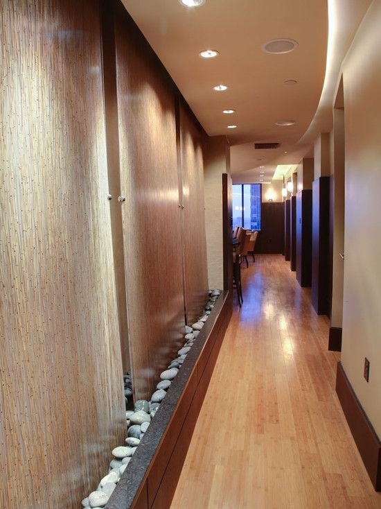 Long Narrow House Corridor Wooden Floor Hotel Condominium