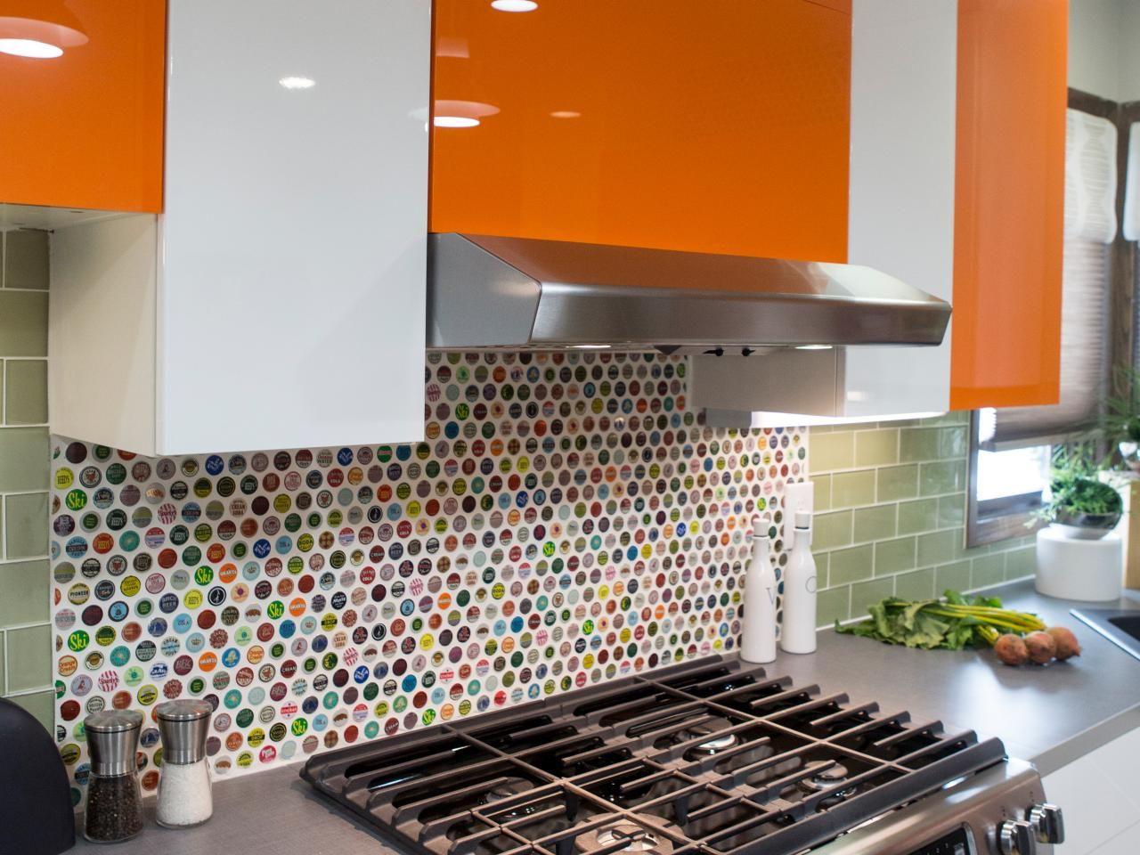- Vintage Bottlecap Backsplash Kitchen Design Diy, Kitchen Diy