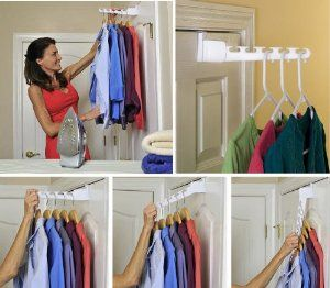 Amazon Com Over The Door Wonder Hangers Set Of 2 White Home Kitchen Closet Organization Cheap Over The Door Hanger Closet Storage
