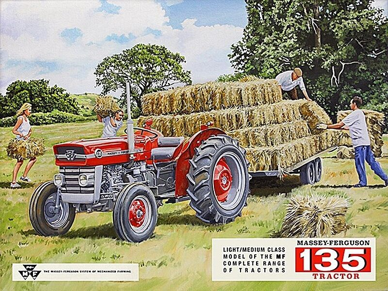 VINTAGE STYLE MASSEY FERGUSON FARM TRACTOR EQUIPMENT TIN METAL SIGN