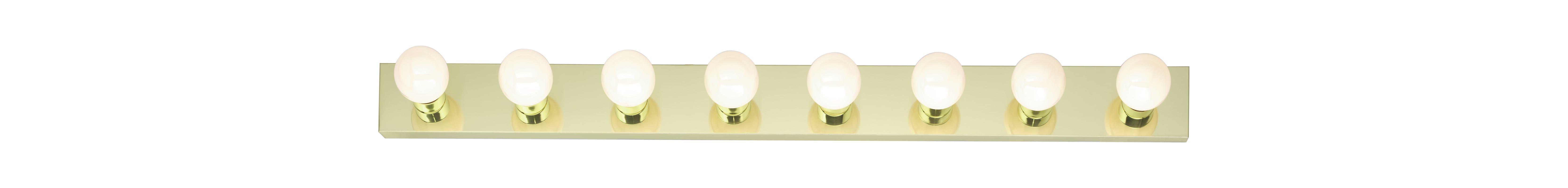 Nuvo Lighting Eight Light Bathroom Bar Light Polished - Eight light bathroom fixture