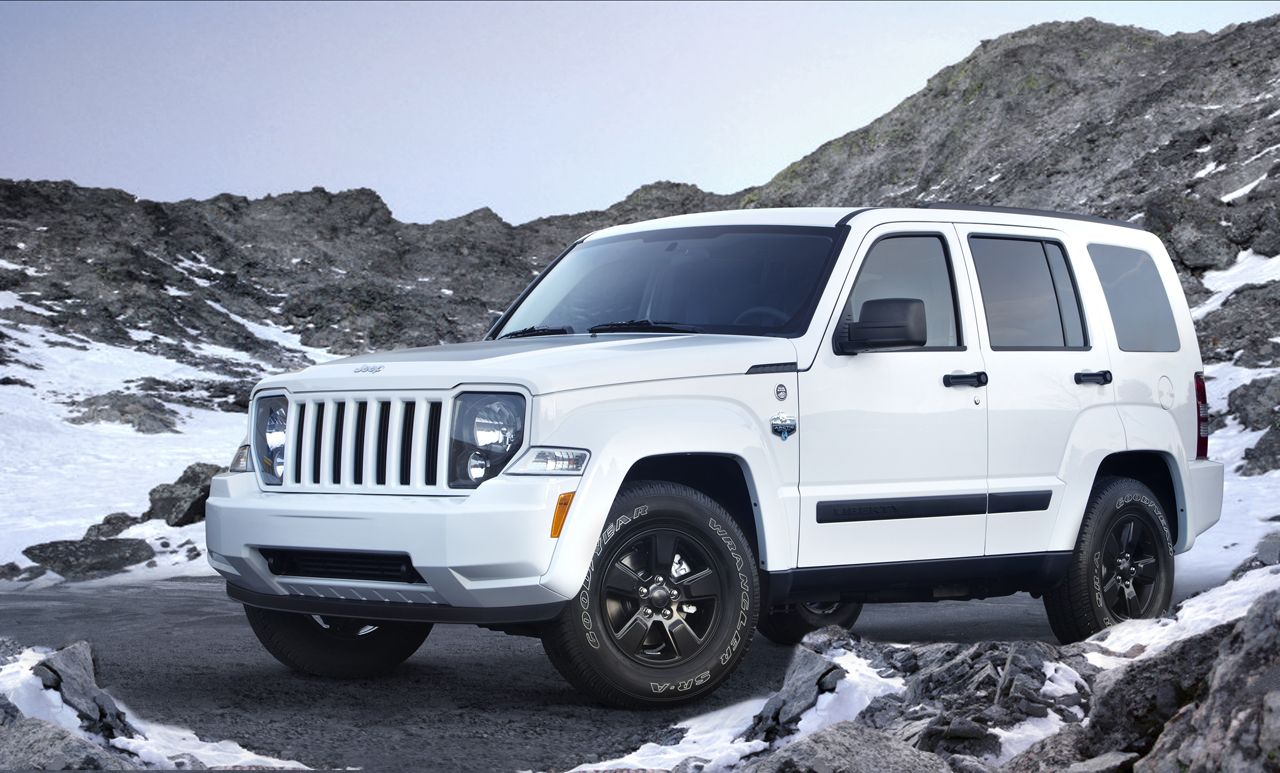 Jeep Liberty Arctic 2012 White black interior must have