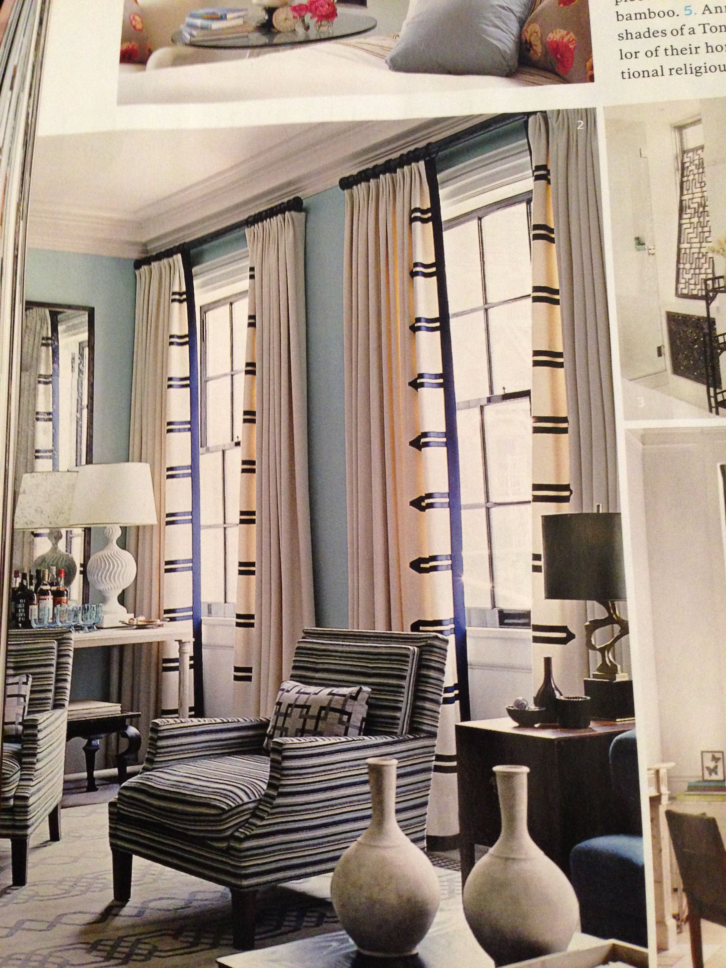 Fabulous Curtains Designed By Steven Gambrel In Elle Decor Oct 2017