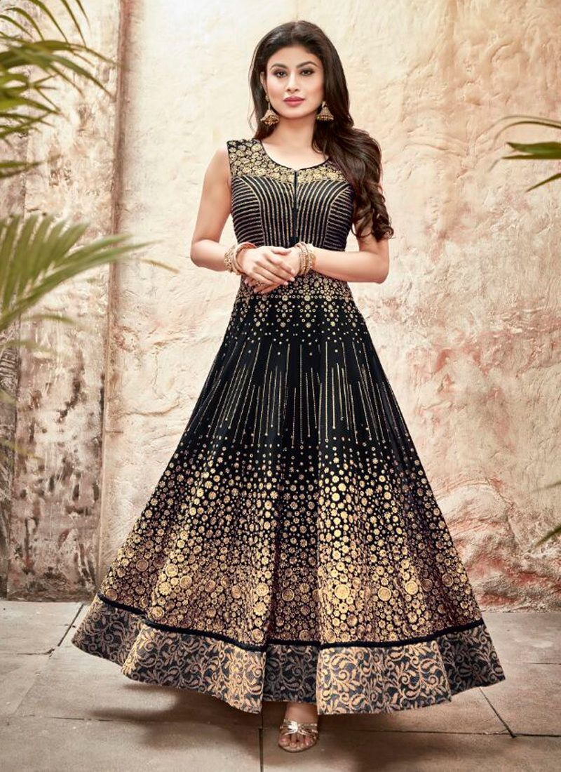 3456626203 Mouni roy black embroidered anarkali suit in 2019 | Fashion & Style ...