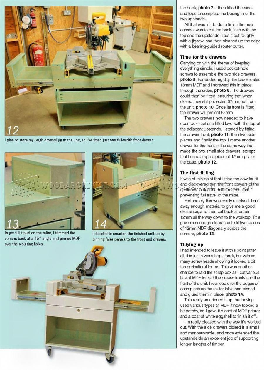 Mobile Miter Saw Stand Plans Miter Saw Woodworkingmitersaw Miter Saw Stand Plans Miter Saws Woodworking