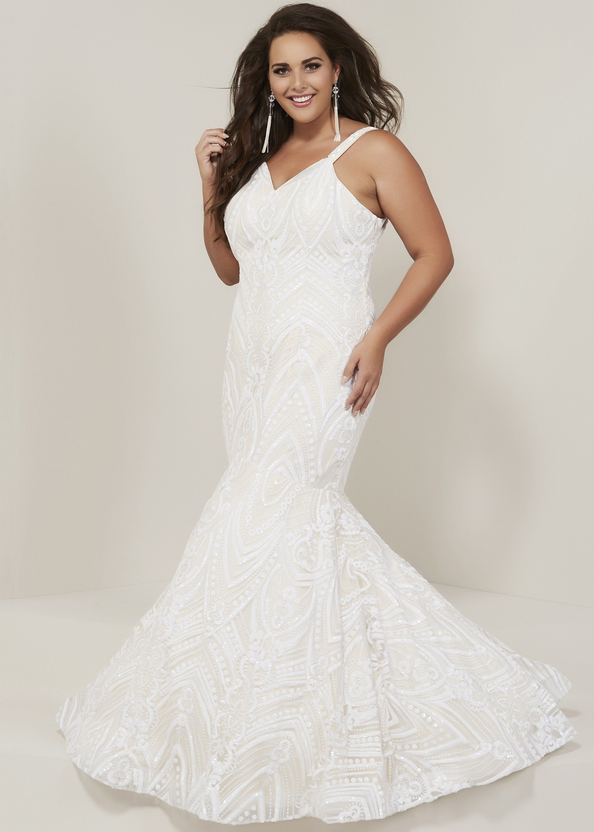 Tiffany Designs 16376 Sparkly Embroidered Mermaid Gown