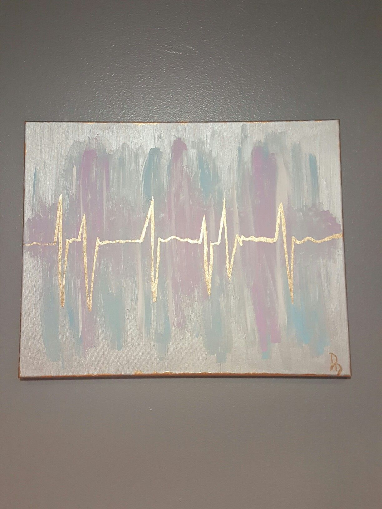 Heartbeat Painting Small Paintings Painting 3 Canvas Paintings