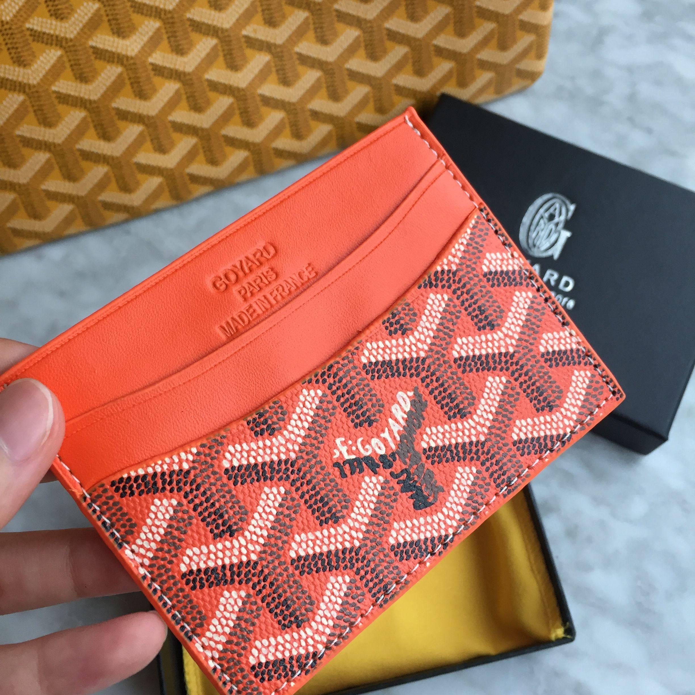 pas cher pour réduction 09336 0323d Goyard unisex card holder orange | wallet en 2019 | Maroquinerie