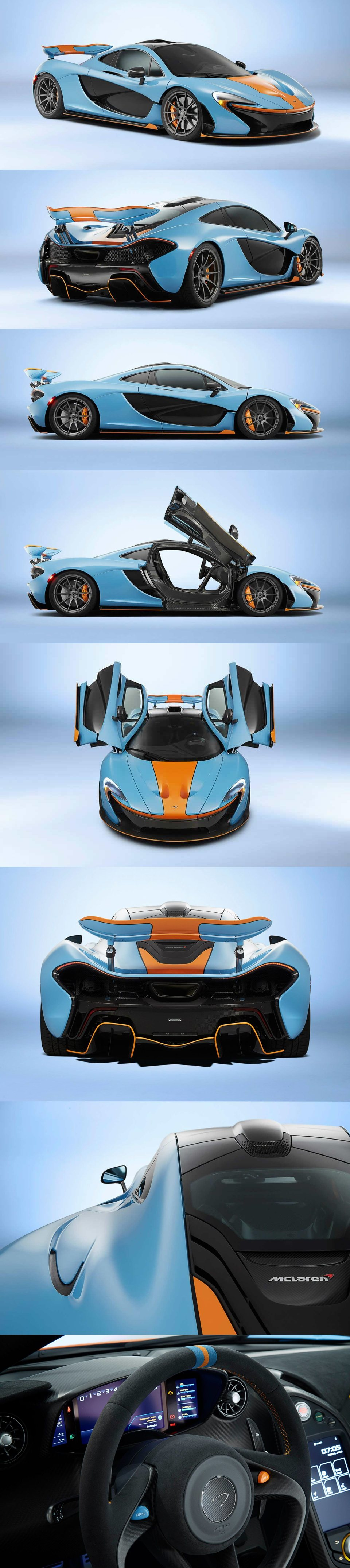 McLaren Special Operations P1in Gulf Livery For Miles Nidal · Super SportSuper  CarsSexy ...