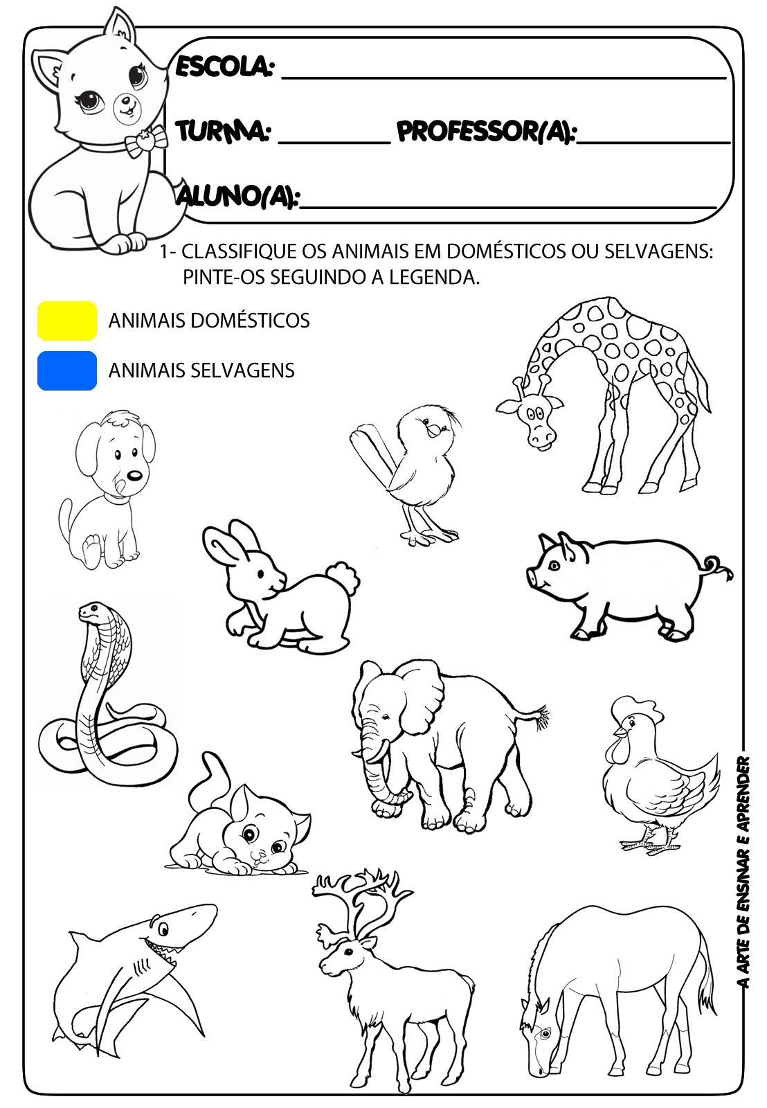 Atividades Prontas Tema Projeto Animais