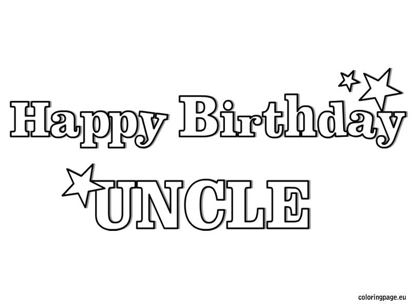 happy birthday uncle coloring page