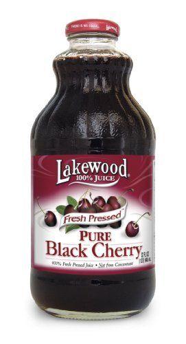 Lakewood PURE Black Cherry Juice, 32Ounce Bottles (Pack