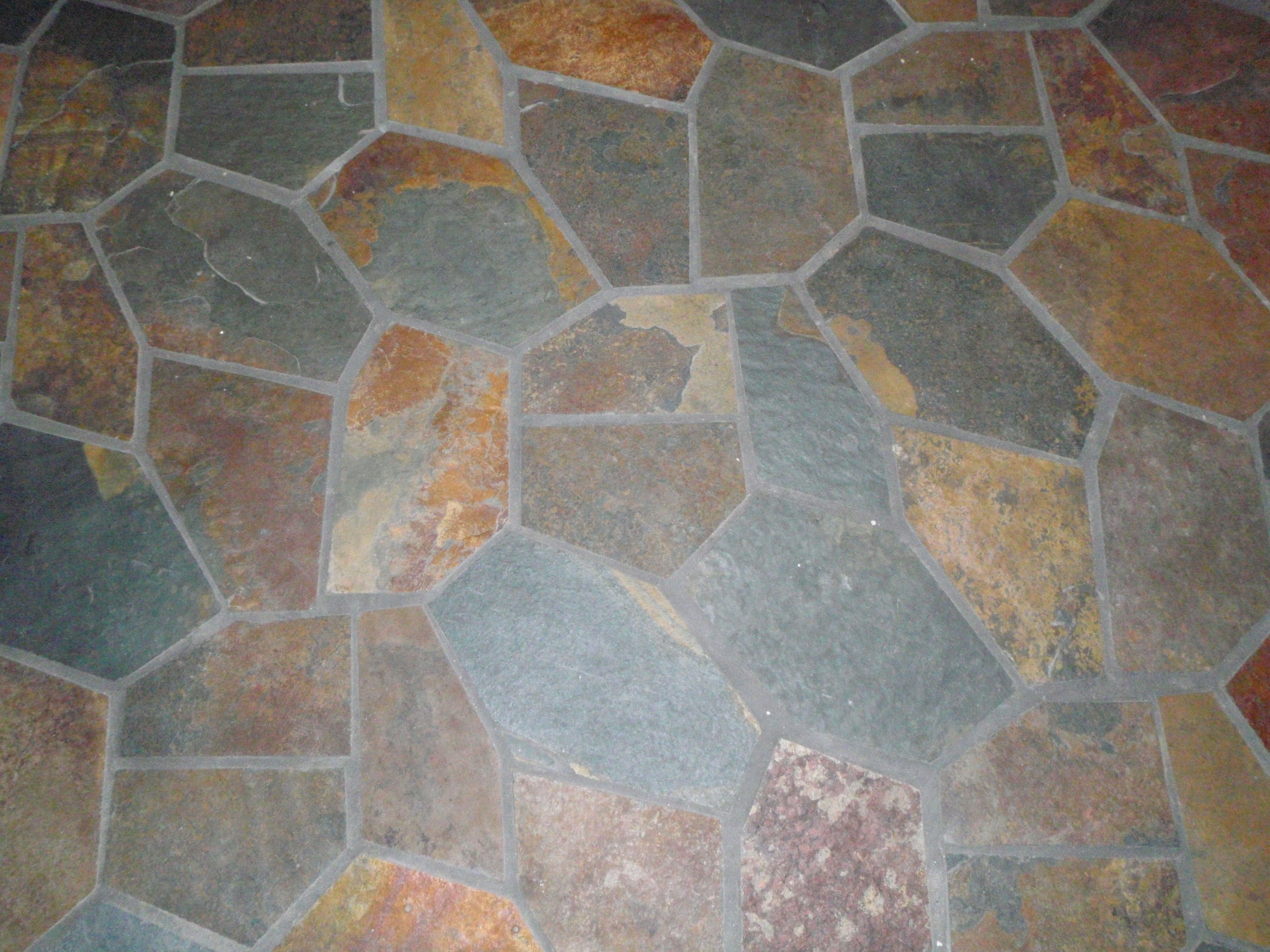 Slate flooring random slate tile with heated floor home slate flooring random slate tile with heated floor dailygadgetfo Gallery