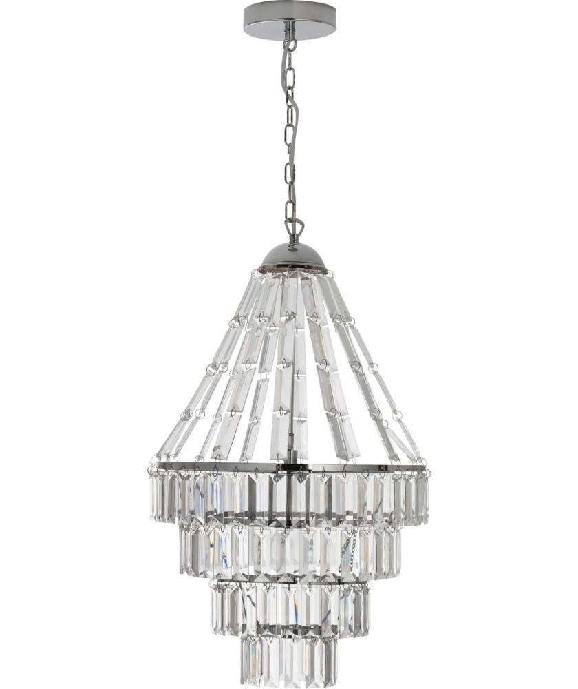 Heart Of House Kalista Chandelier Ceiling Fitting Chrome At Argos Co Uk