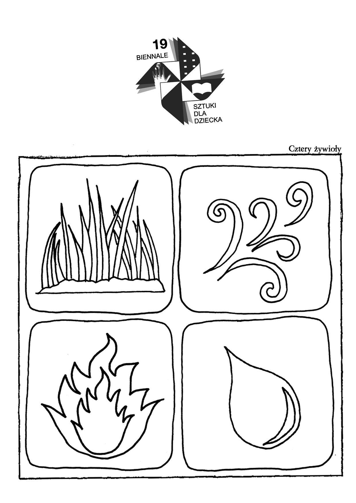 Znalezione Obrazy Dla Zapytania Zywioly Kolorowanka Cards Playing Cards