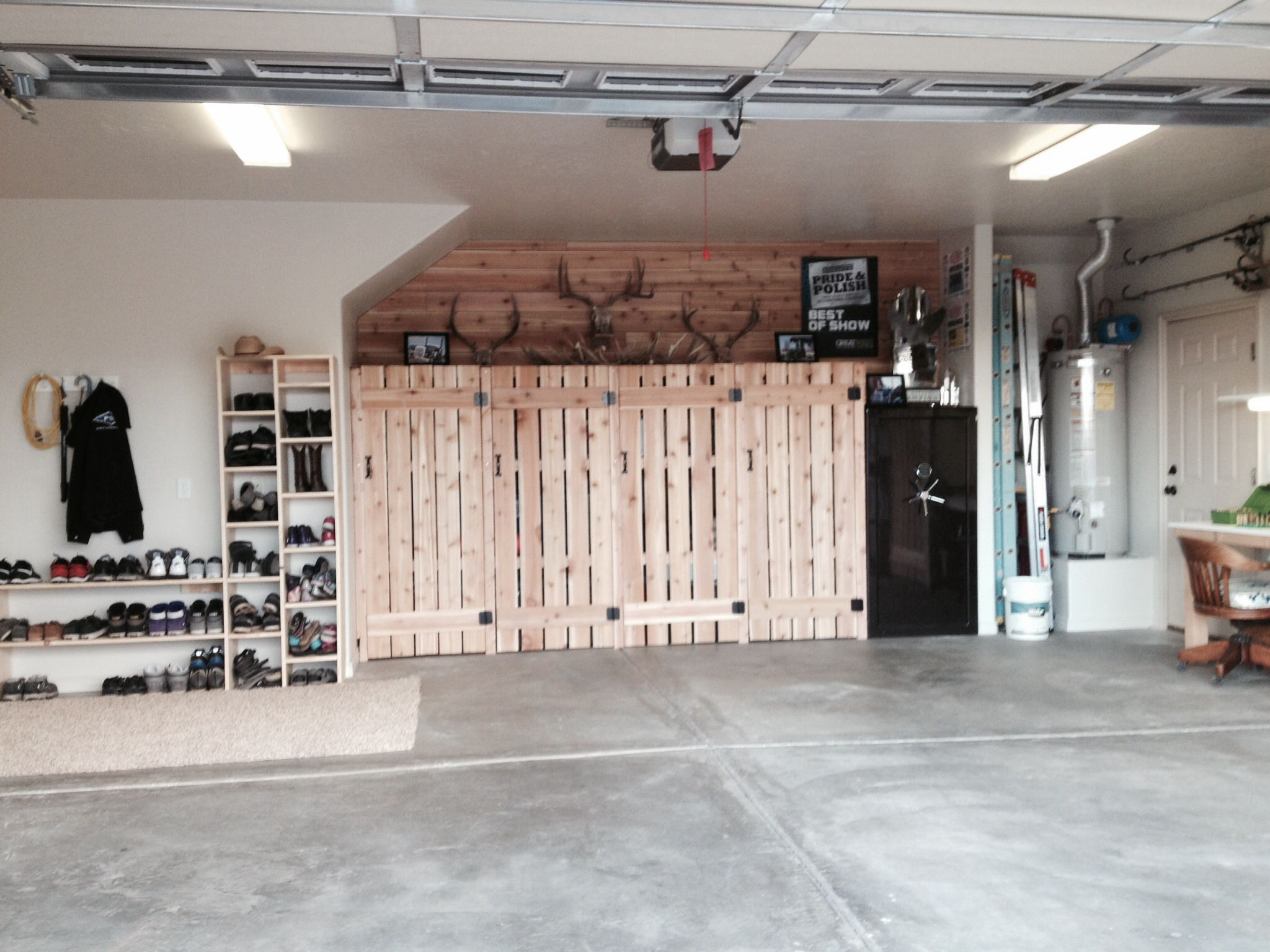 42 best hunting gear storage images on pinterest hunting gear perfect garage with outdoors feel lots of hidden storage for camping and hunting gear
