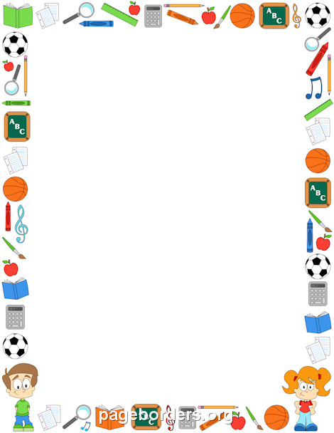 Printable classroom border. Free GIF, JPG, PDF, and PNG downloads at http://pageborders.org ...