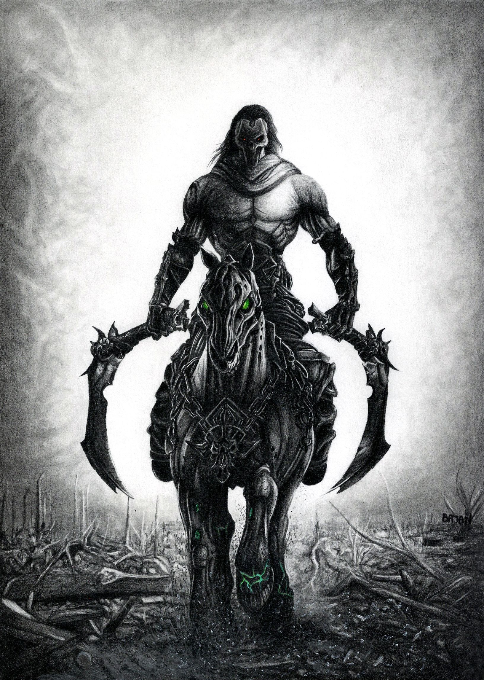 horseman in darksiders 2 wallpapers | 3d wallpapers | pinterest | 3d