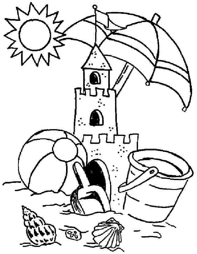 Beach Coloring Pages Summer Coloring Pages Beach Coloring Pages